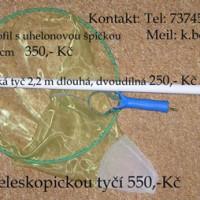 Sítka k lovu planktonu monofil s uhelonovou špicí